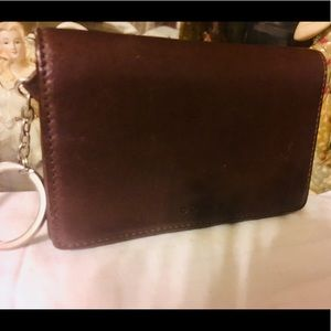Coach Leather Coin Slot Credit Card Wallet